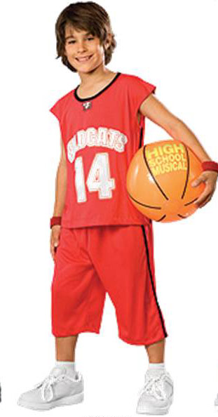 High School Musical Deluxe Troy Bolton Red Basketball ...