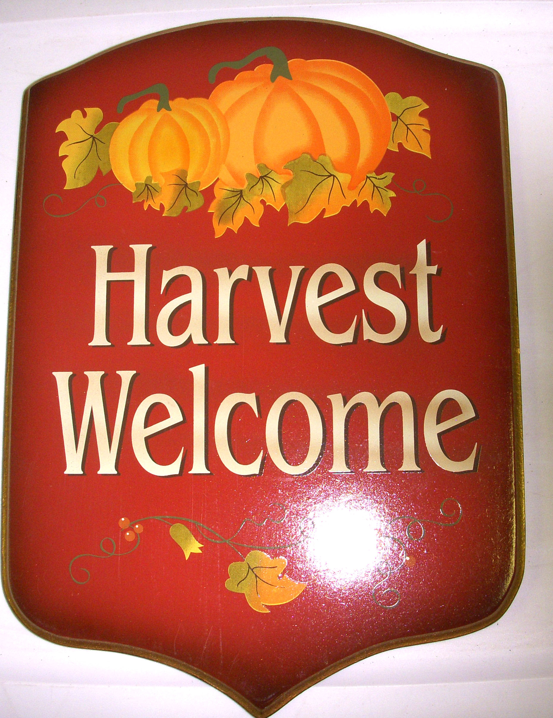 "Details about Harvest Welcome Sign Fall Home Décor 13"" NWT"