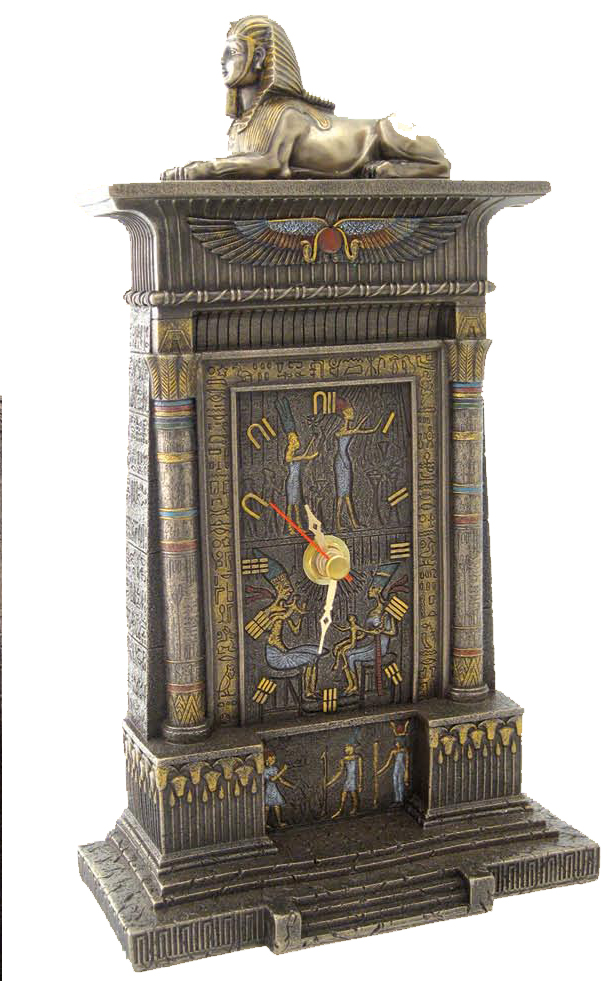 Egyptian sphinx clock home desk d cor gift nib ebay for Egyptian decorations for home