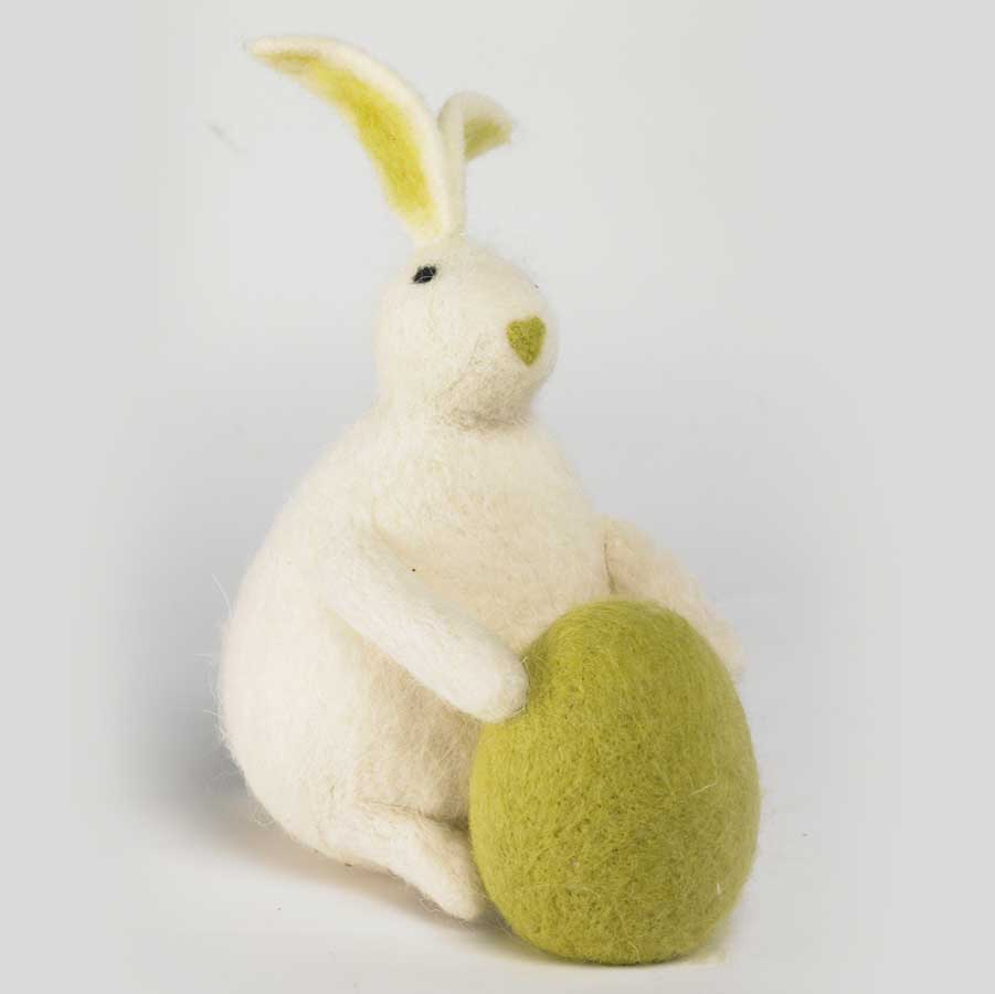 Http Ebay Com Itm White Rabbit Bunny Green Egg 7 Easter Home Decor Nwt 360608839006