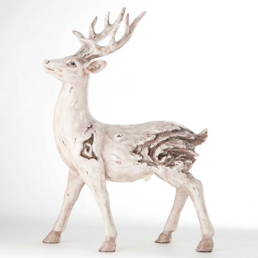 white wash deer reindeer standing holiday christmas home