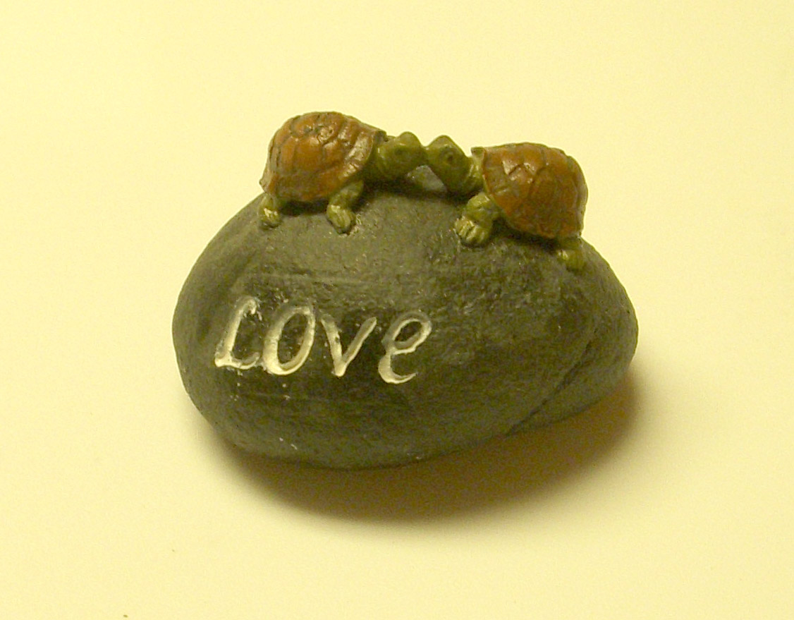 Http Ebay Co Uk Itm Turtle Turtles Love Words Stone Rock Home Decor 3 New 150936864566