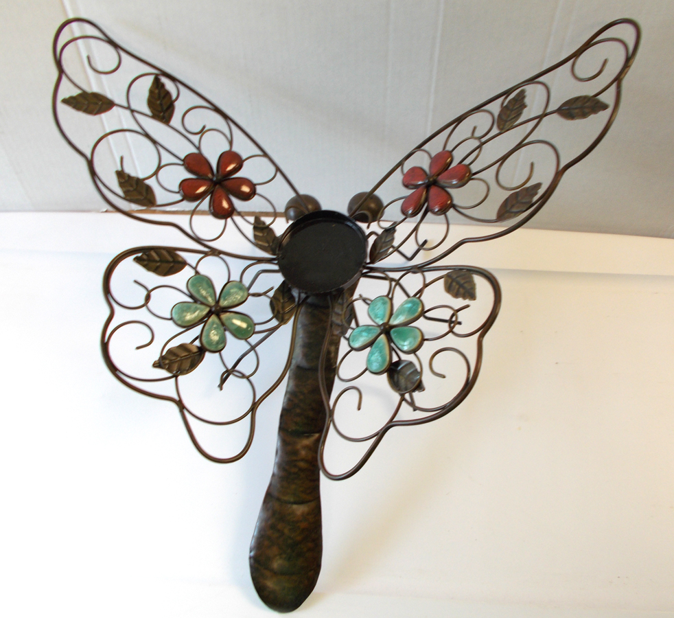 """Butterfly Large Metal Candle Holder Table Décor 18"""""""